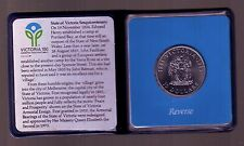 1985 Victoria Australia $10 UNC Silver Coin Part of the State Series