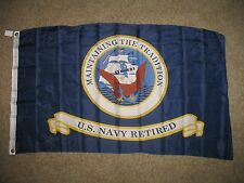 3x5 USA US Navy Retired Flag 3'x5' House Banner Grommets USN Fade Resistant