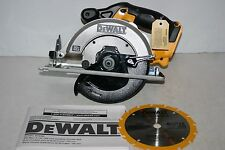 "New Dewalt DCS393 20v Volt Lithium-Ion 6-1/2"" Cordless Circular Saw with Blade"