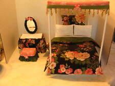Barbie Handmade Canopy Bed & Dressing Table Set