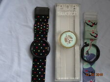 "VNTG 1991 SWATCH POP PWK149 ""ACROBAT"" + PWBB109 ""RUSH HOUR"" 1989 BAND ORGNL BOX"