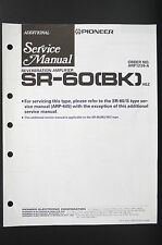 PIONEER SR-60 (BK) ADDITIONAL Reverberation Amplifier Service-Manual o80