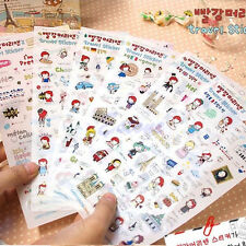 6 Sheets Cute Anne's Travel Stickers Diary Decoration Scrapbook Photo Korean