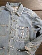 cK JEANS Calvin Klein true vintage 90s denim jean chore work barn jacket LARGE