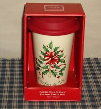 Lenox Christmas Comfort & Joy Travel Tumbler with Silicone Lid MINT IN BOX