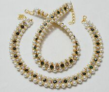 Designer  Indian Gold Plated Stones Ankle  Party Wear Payal /Anklets Sets