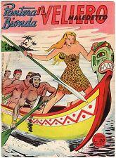 fumetto PANTERA BIONDA ANNO 1954 COLLANA JUNGLA AVVENTUROSA NUMERO 17 EDICOLA