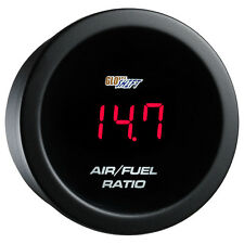 GLOWSHIFT 52mm RED DIGITAL LED AIR TO FUEL MIXTURE RATIO AFR GAUGE