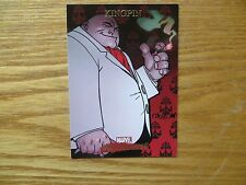 2007 MARVEL MASTERPIECES KINGPIN CARD SIGNED ANDREW ROBINSON, WITH POA