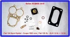 Solex 34 EIES,Vergaser Rep.Satz,Fiat 124 SC,Spider,132