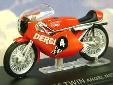 Excelente Diecast 1/24 1971 DERBI 125 Twin #4 campeón mundo Ángel Nieto 125 1971
