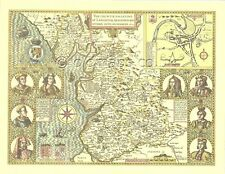 Lancashire Lancaster Replica John Speed map 1610 ALL Hand Coloured UNIQUE GIFT