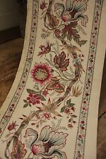 Antique French Indienne border printed fabric c 1880 Arborescent design