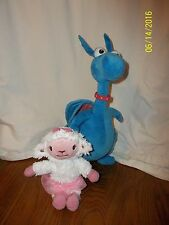 "Lot of 2 Disney Doc McStuffins Talking Stuffy 15"" & Check Up Lambie Talking 9"""