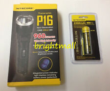 NEW NITECORE P16 960 LUMENS PRECISE TACTICAL LED FLASHLIGHT w/ 2300mAh battery