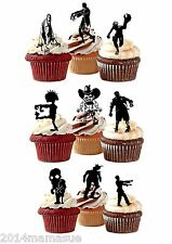 20 x PRECUT HALLOWEEN ZOMBIE STAND UP EDIBLE 3D CUPCAKE WAFER RICE CARD TOPPERS