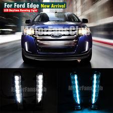 Neuf Bleu LED Daytime Running Light For Ford Edge SUV Fog Lampe DRL 2011-2014