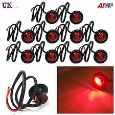 10 24V OUTLINE ROUND SIDE MARKER 3 LED RED LIGHTS LAMPS FOR MAN DAF SCANIA VOLV0