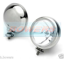 "2x 5"" STAINLESS STEEL BMW MINI CHROME SPOTLAMPS SPOTLIGHTS MAXTEL WIPAC PAIR"