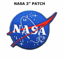 3 Inch Embroidered NASA Logo Patch Iron or Sew! USA SELLER FAST FREE SHIPPING