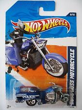 Hot Wheels BOSS HOSS MOTORCYCLE - Blue variant 2011 HW Main Street police bike