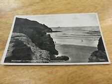 old 1951? postcard Cornwall. Perranporth. black and white. posted used