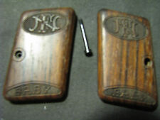 "Browning FN ""Baby"" Fine SMOOTH Walnut Pistol Grips w/Logo RARE Beautiful!"