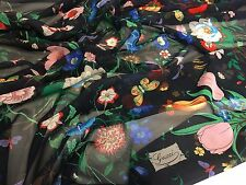 GUCCI Silk fabric for skirt, shirt, dress.. made in Italy 140 x 138 cm