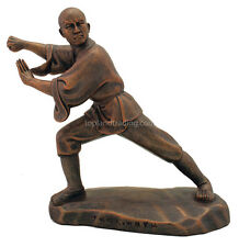 Kungfu Series - Shaolin Monk 2 of 4 Statues Sculpted by a Shaolin Monk 8.5 High