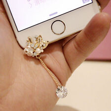 Anti Dust Plug For iPhone 6SPlus 6S 6plus 6 5C 5S 5 Pearls White RoseTassel