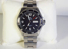 Orient Black Mako II Automatic Diver Stainless DayDate Watch #AA02C0A FAA02001B9