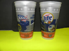 NFL-SUPER BOWL XXXVI-36 PATRIOTS-RAMS & ALL SUPERDOME,LA. SUPER BOWLS BEER CUP