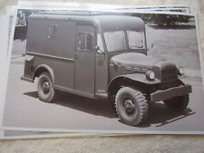 1950 'S DODGE ARMY ? POWER WAGON  # 3   11 X 17  PHOTO   PICTURE