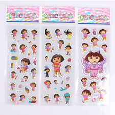 New Arrival 5pcs/Lot Dora the Explorer PVC Puffy Stickers Kids Party Gift sk087