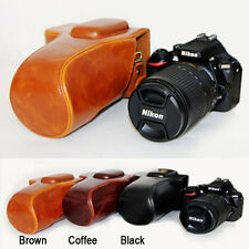 Fashion Retro Vintage Leather Camera case bag Grip For Nikon D5100 D5200 D5300