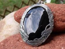 Balinés 925 plata negro Onyx Colgante SILVERANDSOUL handcratfed Jewellery