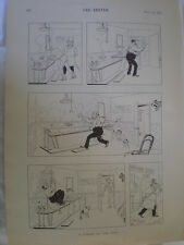 A Knight of the Bath Rene Bull cartoon 1894 old print Ref R