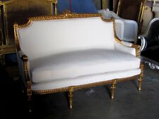 Ornately Gilded French Louis XVI Settee Sofa ONLY