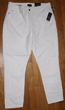 $140 NYDJ NOT YOUR DAUGHTER'S JEANS WINTER WHITE CORDUROY ANKLE SKINNY JEANS 12