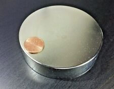 "One (1) Huge Neodymium N52 Disc Magnet Super Strong Rare Earth Neo  3.35"" x .85"""