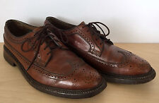 Vintage FLORSHEIM Imperial V-Cleat Brown Leather Wingtip Dress Shoes 5 Nail 10.5
