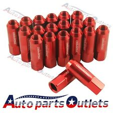 20PC RED JDMSPEED EXTENDED FORGED ALUMINUM TUNER RACING LUG NUT FOR FORD MUSTANG
