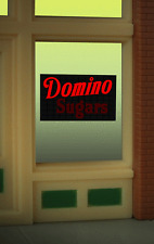 """DOMINO SUGARS WINDOW SIGN -CAN BE TRIMMED AS SMALL AS O.9"""" W X 0 .85"""" T"""