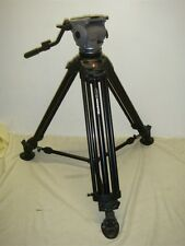 MANFROTTO 545B PRO HEAVY DUTY ALUMINUM VIDEO TRIPOD WITH CARTONI FOCUS FLUID HEA