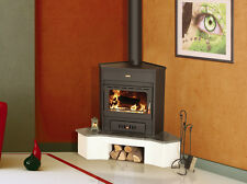 Wood Burning Stove Corner Model Log Burner Solid Fuel 12kw Prity AMB