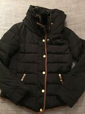 Women's Padded Quilted Jacket Size L Approx 12 Black