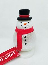 Bath & Body Works LIGHT UP SNOW MAN GLOBE Pocketbac Holder Case Sanitizer Dest