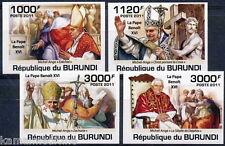 BURUNDI 2011 MNH Imperf, 4v, Pope Benoit XVI, Religion     - Nl