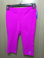 BNWT Womens Sz M/12 Champion Brand Raspberry Crop Stretch Knee Length Legging