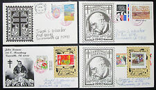 Christmas Greetings US Postage Set of 4 Covers Letters Stamps USA Briefe (H-8374